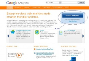 """Google Analytics sign up"""